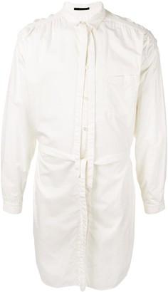 The Viridi-anne Tie Neck Button-Up Shirt