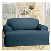Sure Fit Cotton Duck Sofa T-Cushion Slipcover