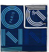 Kenzo striped logo scarf - women - Silk - One Size