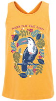 Fat Face Girls' Toucan Vest Top, Yellow