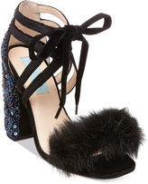 Blue by Betsey Johnson Luca Embelished Lace-Up Sandals