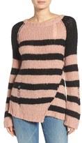 Pam & Gela Colorblock Stripe Sweater