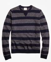 Brooks Brothers Marled Stripe Crewneck Sweater