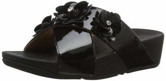 FitFlop Women's Lulu Flower Slide Open Toe Sandals