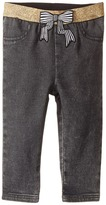 Little Marc Jacobs Denim Effect Trousers with Bow Patch Girl's Clothing