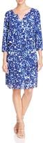 NYDJ Alexa Printed Pleat Back Dress