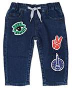 Kenzo Patch-Detailed Stretch-French Terry Jeans