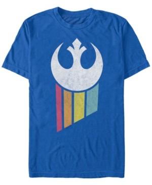 Star Wars Men's Classic Rainbow Rebel Logo Short Sleeve T-Shirt