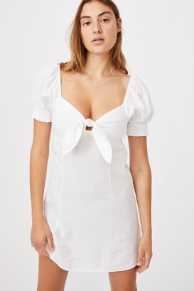Cotton On Woven Charlie Tie Front Mini Dress