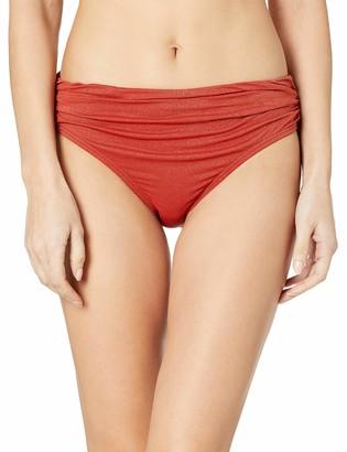 Kenneth Cole New York Women's Shirred Band Hipster Bikini Swimsuit Bottom