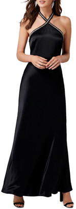 Forever New Sloan Embellished Arrow Neck Gown