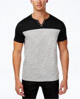 INC International Concepts Men's Colorblocked Split-Neck T-Shirt, Only at Macy's