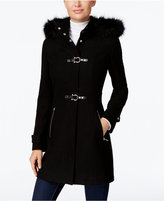 Ivanka Trump Faux-Fur-Trim Buckled Walker Coat