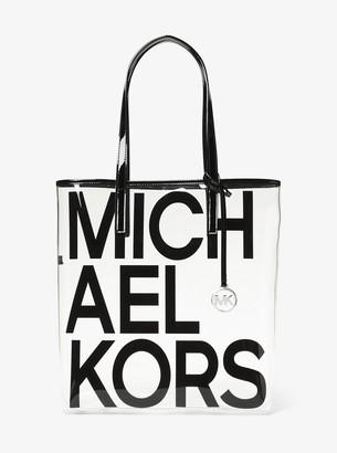 MICHAEL Michael Kors The Michael Large Graphic Logo Print Clear Tote Bag