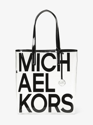 MICHAEL Michael Kors The Michael Large Graphic Logo Print Clear Tote Bag