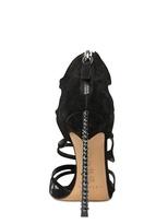 Casadei 100mm Swarovski & Suede Cage Sandals