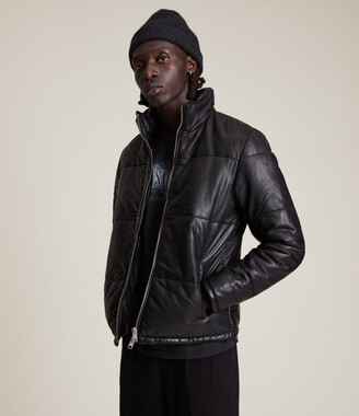 AllSaints Coronet Leather Puffer Jacket
