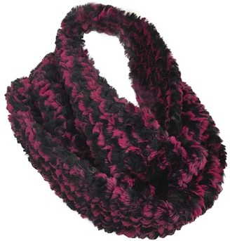 Pia Rossini - Ladies Faux Fur Elegant Thick Chunky Winter Twisted Snood Scarf in 4 Designs (Bailey Black/Pink)
