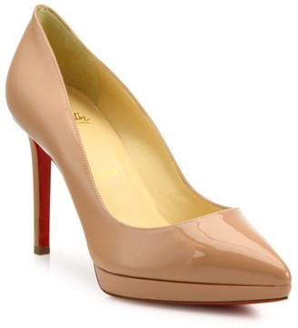 Christian Louboutin Pigalle Plato 100 Platform Patent Leather Pumps