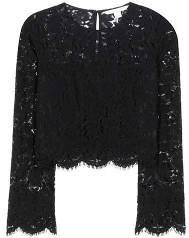 Diane von Furstenberg Yeva lace top