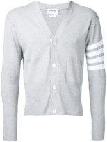 Thom Browne striped detail cardigan - men - Cotton - 1