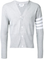 Thom Browne striped detail cardigan - men - Cotton - 2