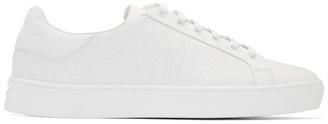 Etro White Calfskin Paisley Sneakers