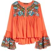 Kas Malo Embroidered Button Blouse