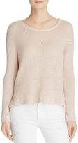 Velvet by Graham & Spencer Carina Waffle-Knit Pullover - 100% Exclusive