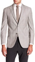 David Donahue Aiden Tan Sharkskin Wool Classic Fit Sport Coat