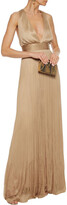 Thumbnail for your product : Maria Lucia Hohan Ryana Open-back Plisse Silk-tulle Gown