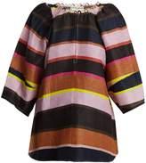 Apiece Apart Nova striped linen-blend top
