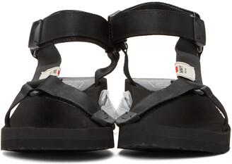 Miharayasuhiro Black Sneaker Heel Belted Sandals