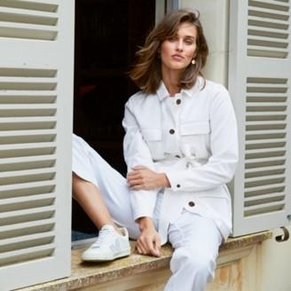 The White Company Tencel Safari Jacket, Ecru, 12