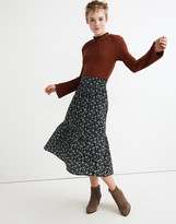 Madewell Tiered Peasant Midi Skirt in Branch Floral