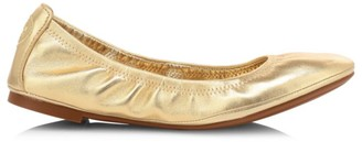 Tory Burch Eddie Metallic Leather Ballet Flats