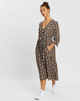 Rusty Costello Long Sleeve Midi Dress