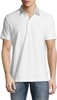 Diesel Denim-Collar Polo Shirt, White