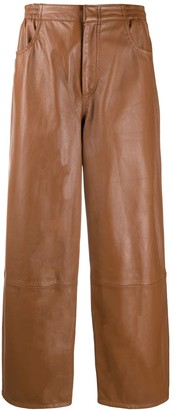 MM6 MAISON MARGIELA Straight Leather Trousers