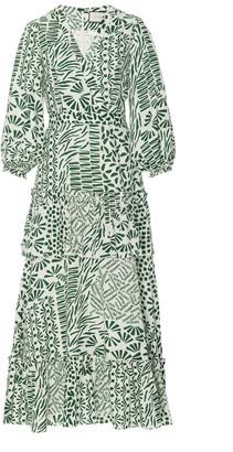 Alexis Tereasa Leaf-Print Cotton Midi Dress