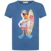 Moncler MonclerBoys Blue Duck Print Top