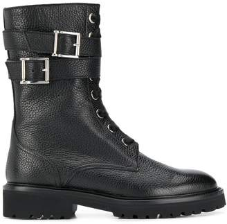 Doucal's buckled combat boot