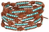 Chan Luu 32 Turquoise/Natural Brown Bracelet (Turquoise/Natural Brown) - Jewelry