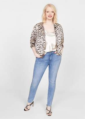 MANGO Violeta BY Zebra print bomber jacket off white - XS - Plus sizes
