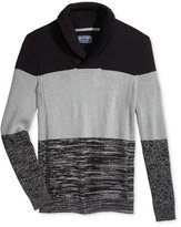 American Rag Men's Colorblocked Shawl Collar Sweater