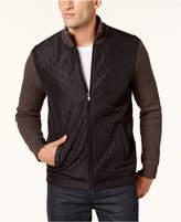 Alfani Men's Embossed Full-Zip Cardigan, Created for Macy's