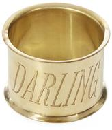 Sir/Madam SirMadam Darling Brass Napkin Ring