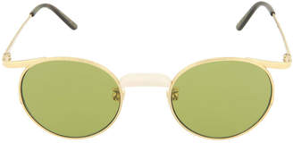 Gucci Round Metal/Acetate Sunglasses
