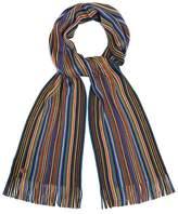 MANTARAY Mantaray - Multi-Coloured Bright Fine Stripe Scarf