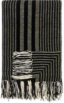 Barneys New York Striped Chenille Throw